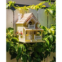 Yellow Veranda Bird House - Happy Gardens