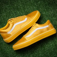 Vans Satin Old Skool AB19 Silk Low Tops Flats Shoes Canvas Sneakers Sport Shoes