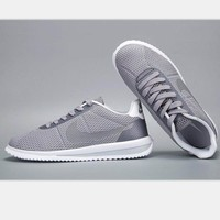 NIKE Cortez Forrest gump lovers shoes running shoes running shoes gray white soles H-MDTY-SHINING