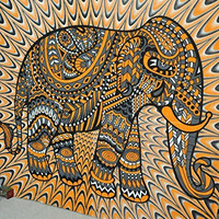 Jaipurhandloom Indian Elephant Tapestries, Large Size Tapestry Wall Hanging, Mandala Tapestries, Bohemian Tapestries, Wall Tapestries, Dorm Decor, Queen Bed Cover Bedding