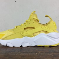 Nike Air Huarache Run Ultra Women Men Lemon Yellow Running Sport Casual Shoes Sneakers