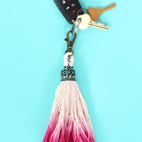 Pink Ombre Tassel Keychain | Monday Dress Boutique