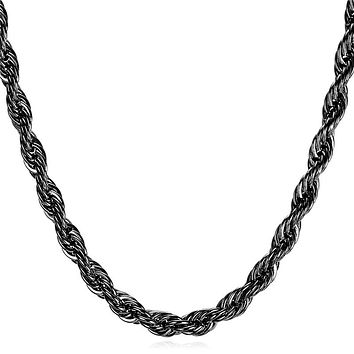 Stainless Steel Hip Hop Rope Chain