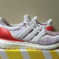 Adidas Ultra Boost Multicolor BB3911 White Red 6-13 LIMITED SHIPPING NOW MULTI