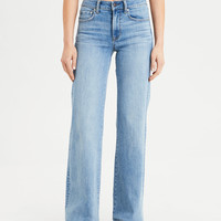 Wide Leg Jean, Light Vintage