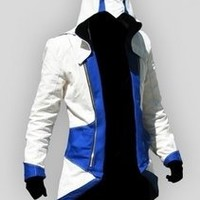 Assassin's Creed III Conner Kenway Casual Blue Jacket Cosplay Costume