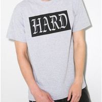 obesity and speed hard times crew tee in grey Oak