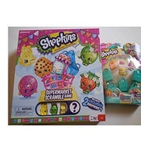 Shopkins Supermarket Scramble Game and Season 3 5 pack (contents may vary) set with surprise shopkins