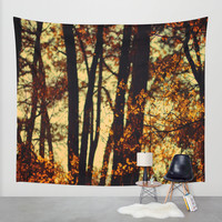 trees Wall Tapestry by Ingrid Beddoes | Society6