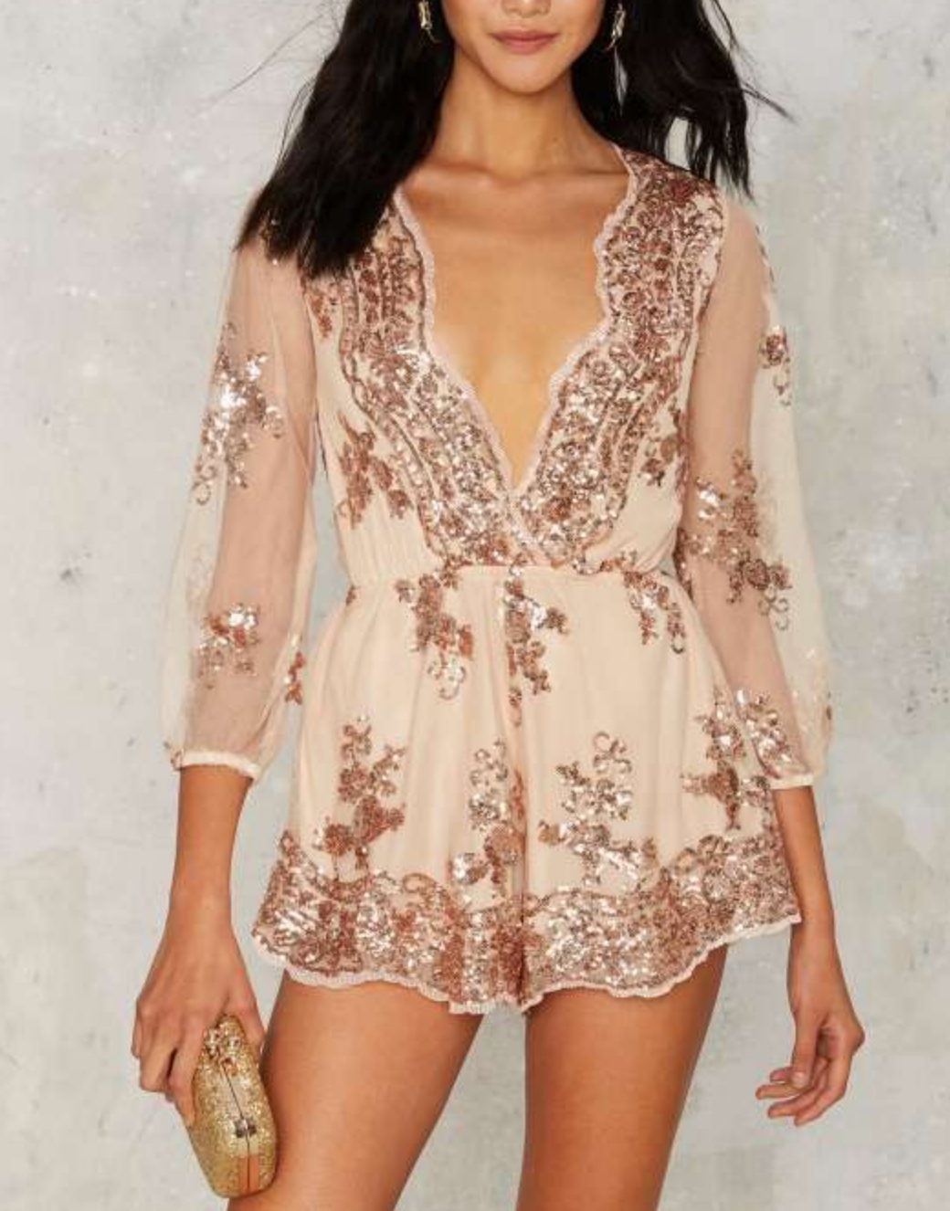 Image of Reverse - Life of the Party Sequin Romper in More Colors