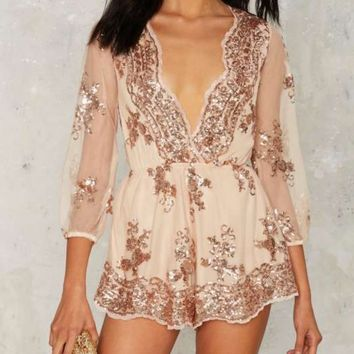 Reverse - Life of the Party Sequin Romper in More Colors