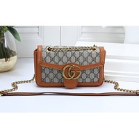 Gucci Fashion Full-print Color Ladies Shopping Bag Single Shoulder Bag