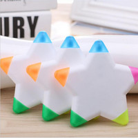 Highlighter for Kids 5 Colors Gift School Supplies DIY Cute Kawaii Colorful Highlighter Star Shape Design Pen Highlighter