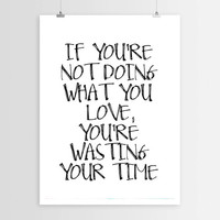 """Motivational Print Typography Poster """"Do what you love"""" Bob Marley Wall Decor Inspirational Print Home Decor Motivated Quote Motivated Print"""