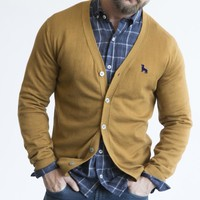 Camel Cotton Cardigan Sweater Size M Available