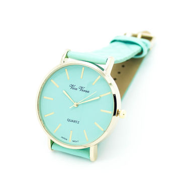 Quilted strap watch (3 colors)