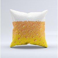 Fizzy Cold Beer Ink-Fuzed Decorative Throw Pillow
