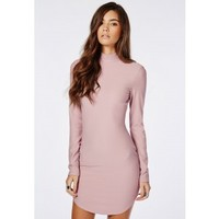 Missguided - Curve Hem Mini Dress Mauve