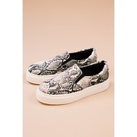 Royal Snake Slip-On, Stone/Black
