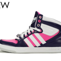 Adidas for Women: Court Attitude Purple Pink Sneaker