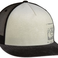 Quiksilver Men's Baseline Trucker Hat, White, One Size