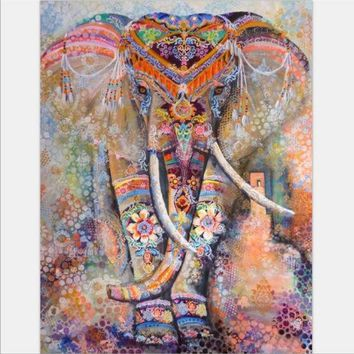 CREYU3C Beach towel Elephant Tapestry Colored Printed Decorative Mandala Tapestry Indian 130cmx150cm 153cmx203cm Boho Wall Carpet