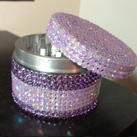 JUMBO Purple Stripe Embellished Grinder