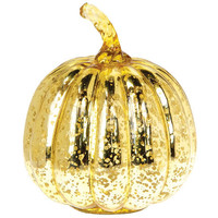 Gold Mercury Glass Pumpkin
