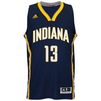 Mens Indiana Pacers Paul George adidas Navy Blue 2014-15 New Swingman Road Jersey