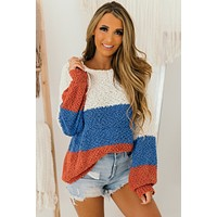Feeling Small Popcorn Knit Hoodie (Cream Multi)