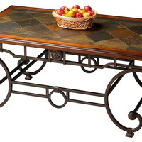Traditional Rectangular Cocktail Table Multi-Color
