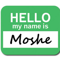 Moshe Hello My Name Is Mouse Pad