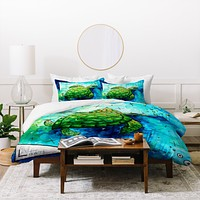 Madart Inc. Sea of Whimsy Sea Turtle Duvet Cover