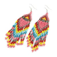 Colorful Bohemian Style All-matching Gorgeous Beaded Tassel Earring Drop Dangle Earring, Birthday Gifts Party Jewlry, Fashion Jewlry 8092690