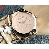 COACH Trending Stylish Movement Watch Business Watches Couple Wristwatch 1#