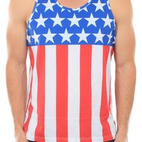 Men's American Flag Tank Top | Tipsy Elves