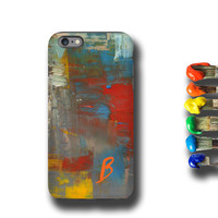 Color Painting iPhone 6s case Samsung Galaxy S6 case iPhone 6 plus case iPhone 5s case Samsung Galaxy S5 case - Art teacher oil painting