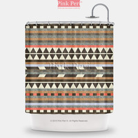 Aztec Pattern Vintage Pattern Shower Curtain Free shipping Home & Living 184