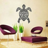 Sea Turtle Wall Decal Ocean Sea Animals Tortoise Decals Wall Vinyl Sticker Home Interior Wall Decor for Any Room Housewares Mural Design Graphic Bedroom Wall Decal Bathroom (6099)
