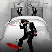 3D Bed Linen Bed Cover Michael Jackson Quilts without Comforter 3D Cotton Fabric