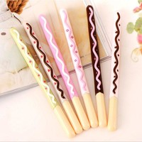 DCCKL72 Gel Pen 0.5mm Korean Cute Kawaii Chocolate Cake Gel Pen Set For Writing Office School Supplies Stationery For Kids Student Gift