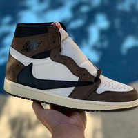 Nike Air Jordan 1 Hi OG x Travis Scott TS Man Basketball Sneaker Shoes CD4487_100