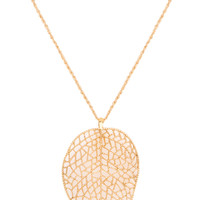 Leaf Or Not Necklace - One Size / Gold