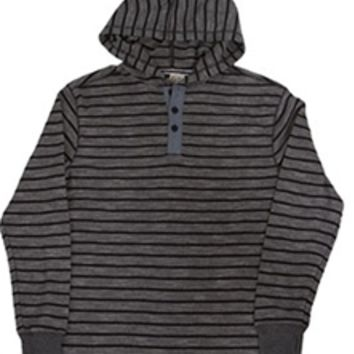 1897 Thermal Pullover Henley for Men in Charcoal LH45004M