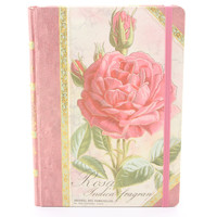 Punch Studios Library Writing Journal Rose Rosa Indica
