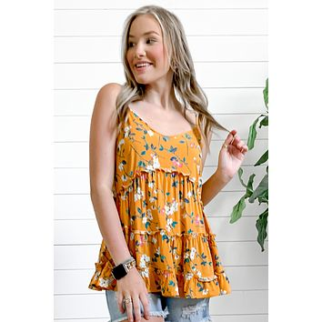 Check It Out Floral Cami | Yellow