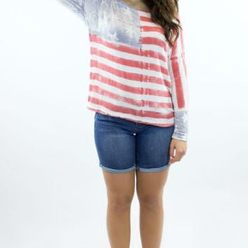 T Party | Born Free American Flag Top