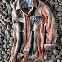 Sunrise Flannel Shirt-Carbon 2 Cobalt