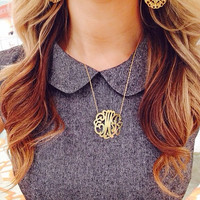 Metal Chesire Monogram Necklace