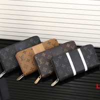 LV Long leather fashion Zipper Wallet [305710333981]